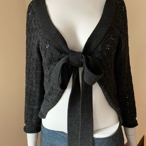 NANETTE LEPORE Vintage Black Shrug Sweater and Bag